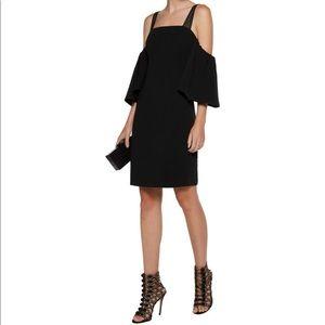Cinq a sept Monroe cold-shoulder crepe mini dress